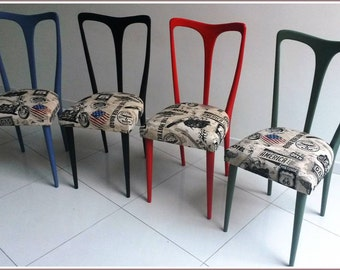 Set 4 chairs Vintage Industrial Chic