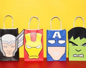 Avengers Favor Bags Instant Download