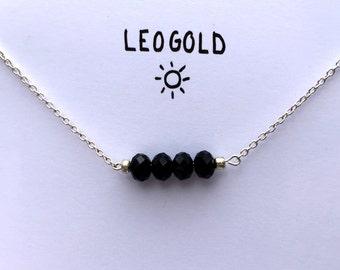 Single Bead Bar // Glitzy Black