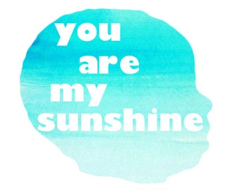 Child Silhouette: My Sunshine