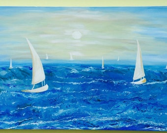 1  Modern Seascape painting abstract painting  original painting