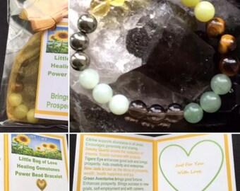 Manifest Abundance, Prosperity & Success - Power Bead Bracelet - Prosperity Bracelet - Healing Crystal Gemstones - Size Choice