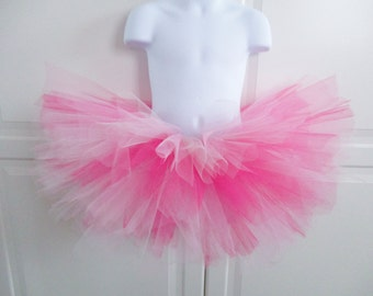 Hot Pink, Light Pink and White Tutu - Other Colors Available