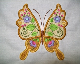 Jacobean Applique Butterflies  ( 14 Machine Embroidery Designs from ATW )