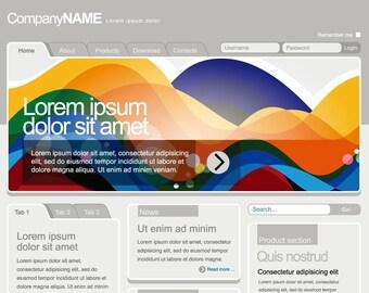 Web Design, Blog Template, Premade Website Design, Page Design, Custom A Website
