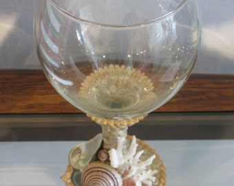 Sea Shell Wine Glasses  (6 available, all slightly different)