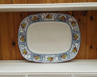 """ANTIQUE WEDGWOOD  Baltimore meat plate 17""""×13""""/ships worldwide from UK"""