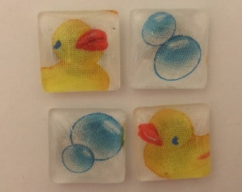 Set of 4 Rubber Duck Magnets