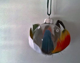 One of a Kind Feather Ornament