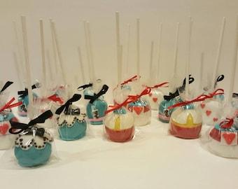 "Cake pops- ""Alice in Wonderland Inspired"" (Order of 13)"