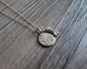 Silver Dog Stamp Necklace