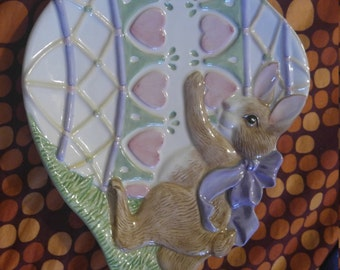 Fitz and Floyd bunnies collector plate