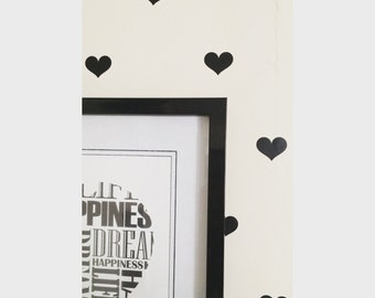 Love Heart Wall Decals~ Love Heart Wall Stickers~ Nursery Decor~ Wall Stickers~ Heart Stickers ~ Nursery Wall Stickers ~ Wall Decals Nursery