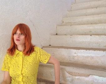 Acid yellow blouse.