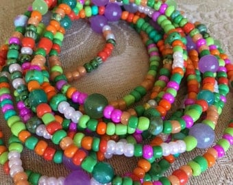CARNIVAL BRACELET- Beautieandthebead, Boho Chic, Hippie Chic, multi-colored, glass beads