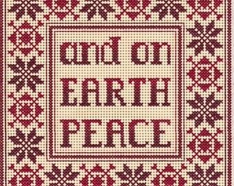 Peace on Earth Cross Stitch Plastic Canvas