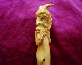 Pan. / The Goat Foot God / Juniper Wand / Neo-classical style / Arte Mystique / Nature Magic / GreenwoodEnchantment/ / Nature God  / Deity /