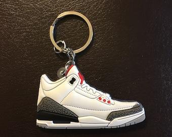 Jordan Retro 3 Sneaker Keychains