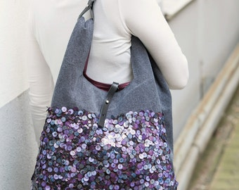 Shoulder bag violet