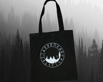 Forest Runes Tote Bag