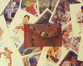 Leather Baseball Glove Wallet : Game Used / Handmade