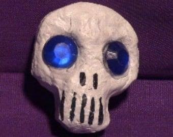 6 Pack Blue Mini Skulls