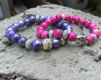 Wrist Candy (purple&pink)