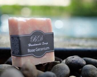 Rose Geranium Soap - Handmade Soap, Organic Soap, Handcrafted Soap, Natural Soap