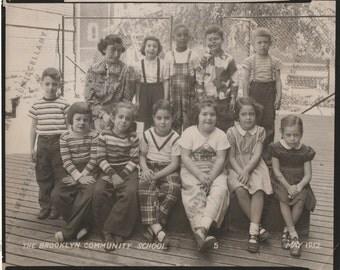 Vintage Photograph: The Brooklyn Community School, May 1952 (8 X 10) - 5 (Fifth Grade?)