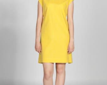 Apron Dress Mustard Yellow