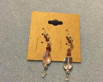 Pink crystal drops