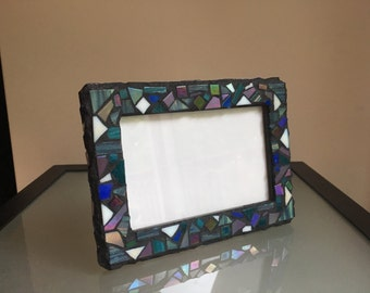 "Mosaic 4"" x 6""  Picture Frame w/ black grout"
