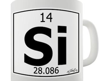 Periodic Table Of Elements Si Silicon Ceramic Funny Mug