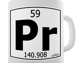 Periodic Table Of Elements Pr Praseodymium Ceramic Novelty Mug
