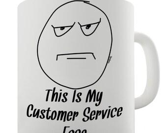 Customer Service Ceramic Novelty Mug