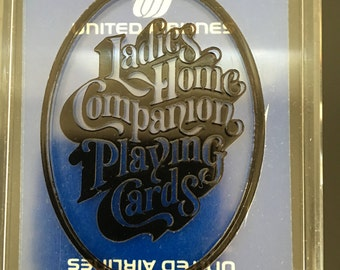 Ladies Home Companion United Airlines Playing Cards, Playing Cards, United Airlines Cards