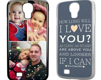 Personalised Samsung Galaxy S4/SIIII 2D Plastic Case Cover Collage - Your Images & Text Custom Printed