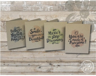 Cheer Up and Motivate | Note Card Set