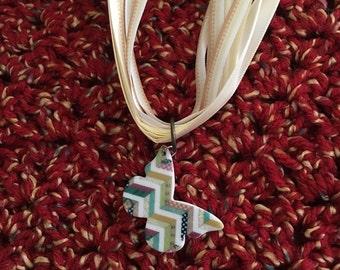 Butterly ribbon necklace