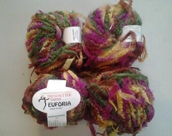 TRENDSETTER YARNS - EUFORIA - multi colored cheille fun yarn