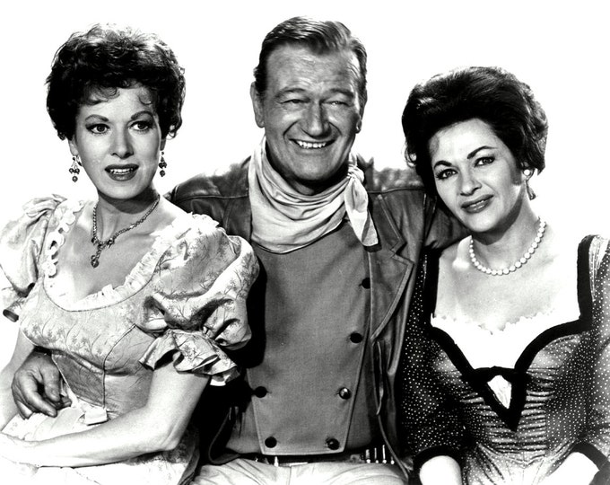 "John Wayne, Maureen O'Hara and Yvonne De Carlo in the Film ""McLintock!"" - 5X7 or 8X10 Publicity Photo (ZY-070)"