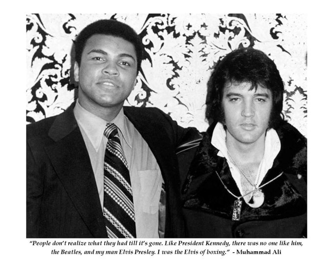 """Muhammad Ali Boxing Legend Famous Elvis Presley Quote """"I Was the Elvis of Boxing"""" - 8X10 or 11X14 Photo (PQ-014)"""