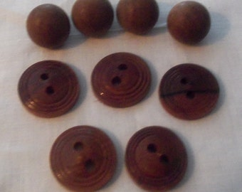 Lot of  Vintage Wooden Buttons