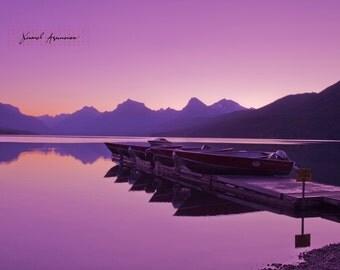 Pink Glow at Lake McDonald, Glacier National Park, Art, Canvas