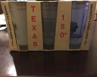 Vintage Texas 150th Anniversary Glass