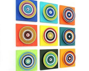 Abstract Wall Sculpture Installation - 3D Wall Art - Modern Wall Art - Home Decor - Contemporary - Wall Accent - AV22