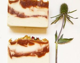 Flower Soap -  Natural soap, Vegan soap, Rustic soap, Artisan soap, Handmade soap