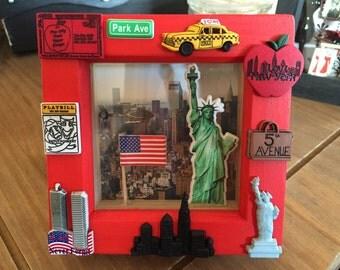 New York memories 3D deep box frame shadow box