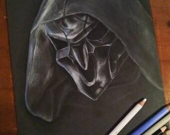 Reaper, A4, Pastelky, Černý Papír