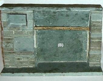 Miniature FIREPLACE SLATE  (B) Made by Joe Graber
